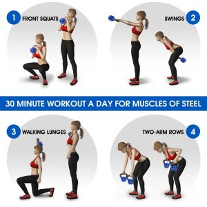 Vinyl coated kettlebell exercise
