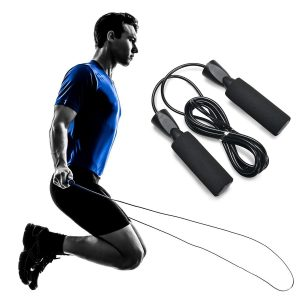 jumping rope with ab roller