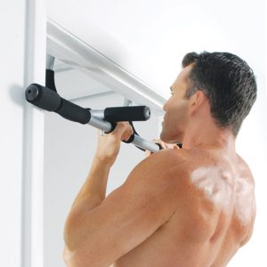 Iron gym workout bar chin-ups