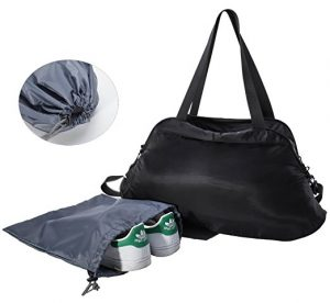 cheap black tote bag with shoe compartment