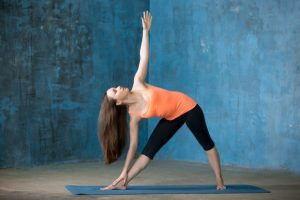Triangle pose yoga for weight loss