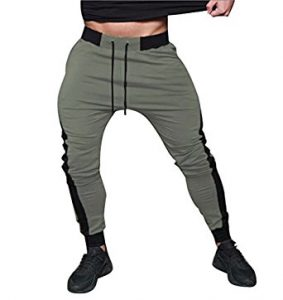 slim fit jogger pants green