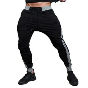 slim fit jogger pants black