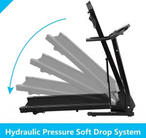foldable hydraulic treadmill for home