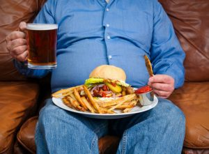overeating junk food fat belly