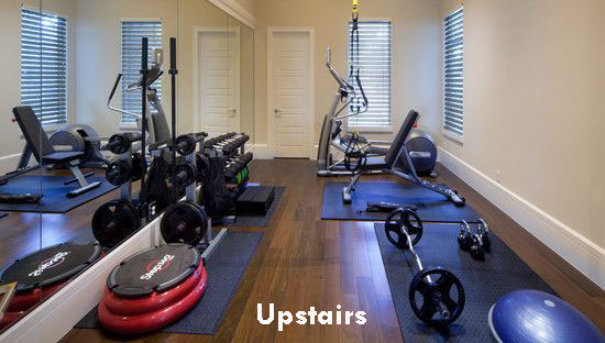 home gym upstairs