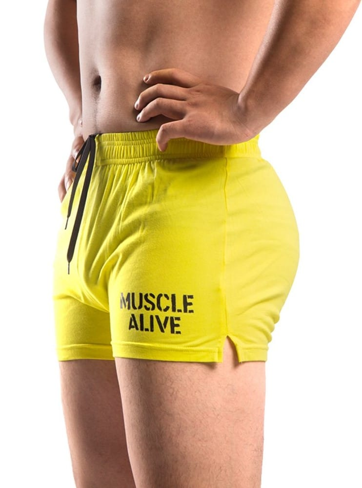 muscle alive gym shorts 3 inch