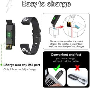 easy to charge fitness tracker