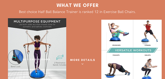 Best Choice Products Half Ball Balance Trainer top cheaper
