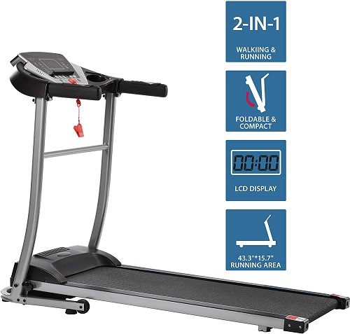 electric folding treadmill for small space