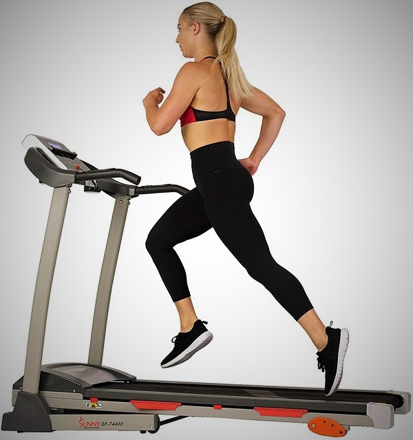 shock absorption folding treadmill for home