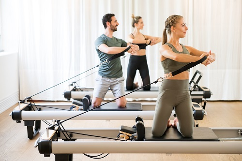 Pilates Reformer Advanced Exercises rowing