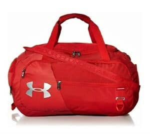 under armour red gym bag